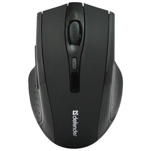 Беспроводная мышь Defender Accura MM-665, черный беспроводная мышь defender accura mm 665 usb red