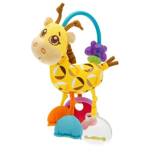 Купить Прорезыватель-погремушка Chicco Mrs. Giraffe Rattle 7157 желтый, Погремушки и прорезыватели
