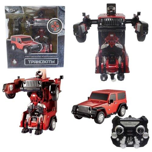 Робот-трансформер 1 TOY Джип черный/красныйРоботы и трансформеры<br>