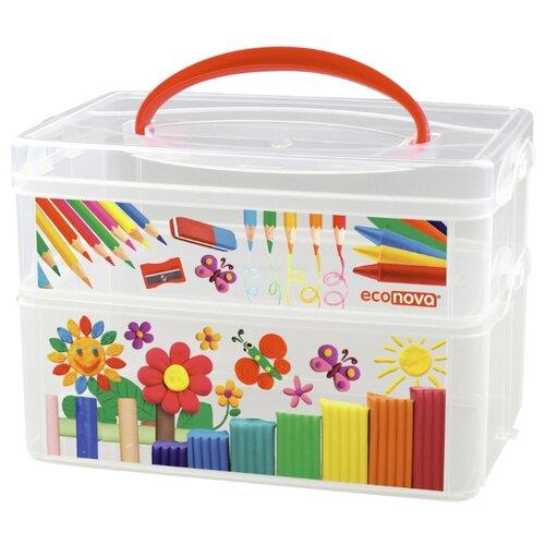 Контейнер Econova Art Box 5 л (4312392) прозрачный branq контейнер хозяйственный 12 5 л 45х16×25 5 см прозрачный