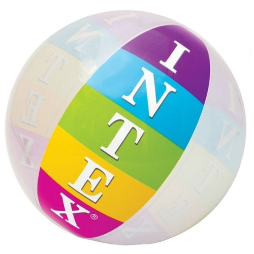 Пляжный мяч Intex 59060 голубой/зеленый/желтый intex pinwheel 229х56 см желтый