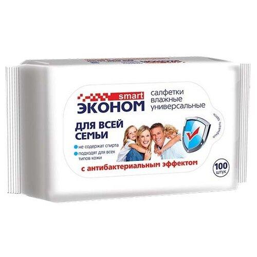 Влажные салфетки Эконом smart для всей семьи, 100 шт.