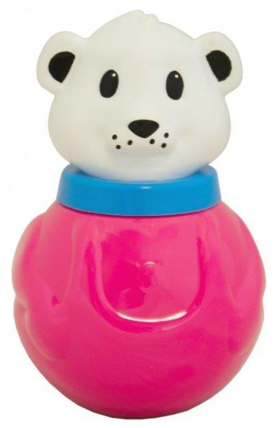 Неваляшка Пластмастер Медвежонок Ляля (11314) 15 см розовый/белый