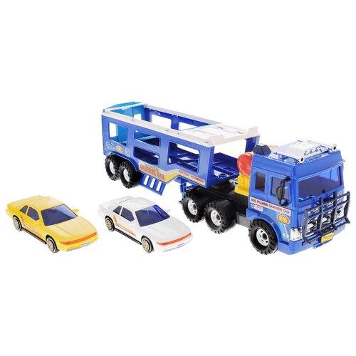 Набор машин Daesung Toys Автовоз (906), синий/желтый/белый