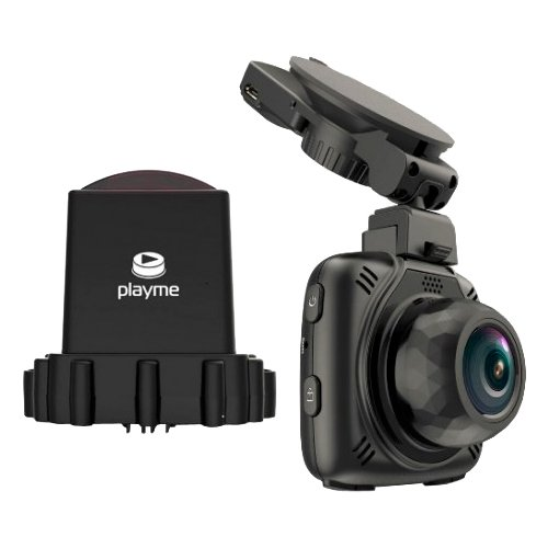 Видеорегистратор с радар-детектором Playme MAXI, GPS черный