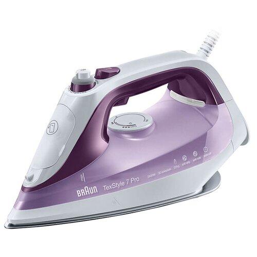 Фото - Утюг Braun SI 7066 TexStyle 7 Pro фиолетовый/белый утюг braun texstyle 5 ts505 розовый белый