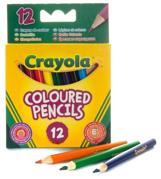 Crayola Цветные карандаши короткие 12 цветов 4112