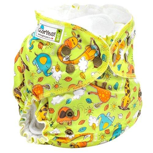 Купить GlorYes! подгузники Classic+ (3-18 кг) 1 шт. жирафы, Подгузники