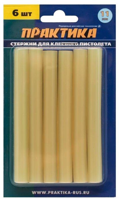 ПРАКТИКА Клеевые стержни 11x100 мм, 6 шт