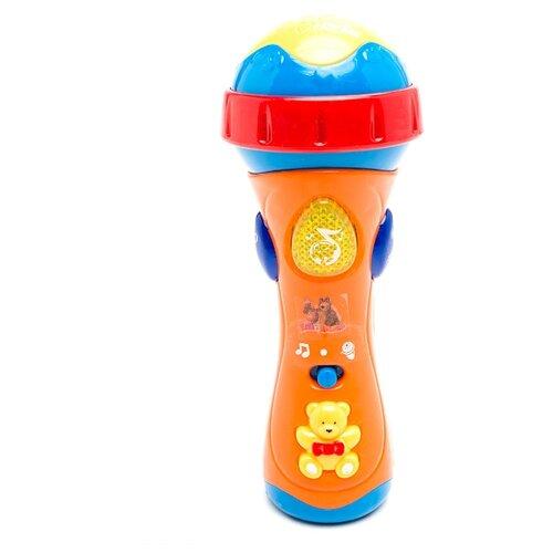 Купить Играем вместе микрофон Маша и Медведь 838-31 оранжевый, Детские музыкальные инструменты