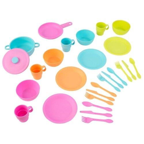 Набор посуды KidKraft Делюкс 63319 голубой/зеленый/розовый набор посуды kidkraft делюкс 63319 голубой зеленый розовый