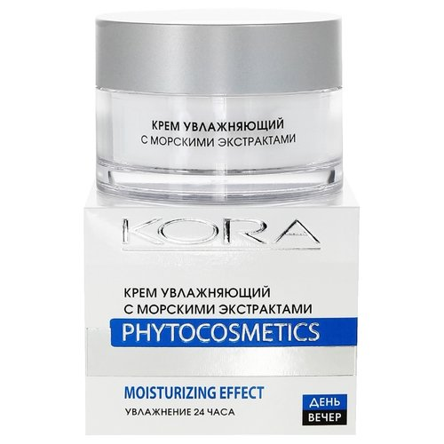 Kora Phytocosmetics Крем увлажняющий с морскими экстрактами для лица, шеи и области декольте, 50 мл holy land vitalise увлажняющий крем для лица шеи и области декольте 50 мл