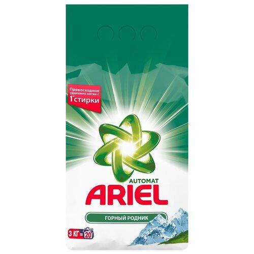 Стиральный порошок Ariel Горный родник Аквапудра (автомат) пластиковый пакет 3 кг стиральный порошок автомат ariel горный родник 1500 г