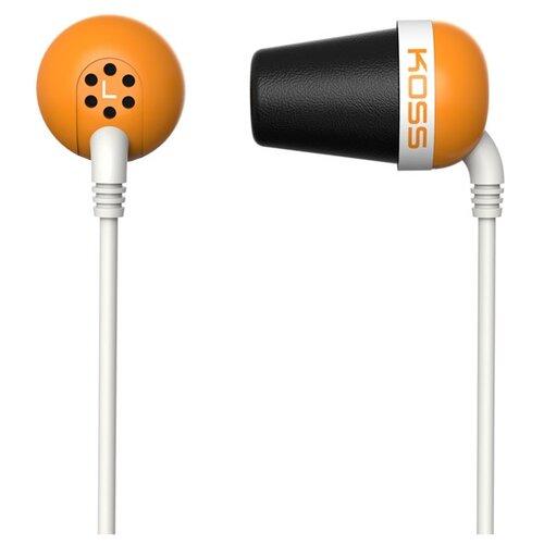 Купить Наушники Koss The Plug оранжевый