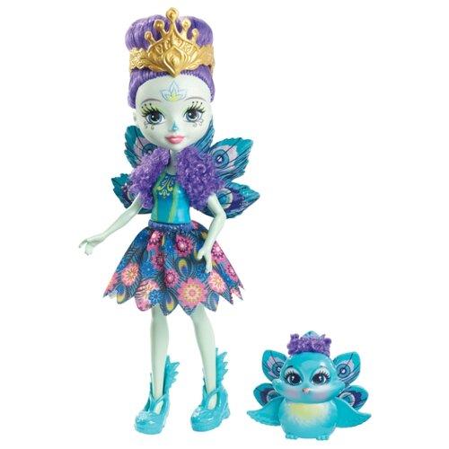 Купить Кукла Enchantimals Пэттер Павлина с любимой зверюшкой, 15 см, DYC76, Куклы и пупсы