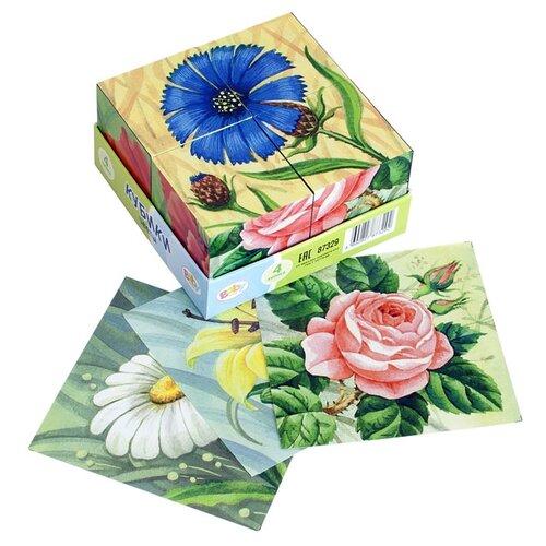 Купить Кубики-пазлы Step puzzle Baby step Цветы 87329, Детские кубики