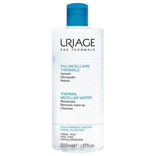 Uriage мицеллярная вода очищающая для нормальной и сухой кожи Demaquillante, 500 мл uriage мицеллярная вода очищающая для чувствительной склонной к покраснению кожи 100 мл