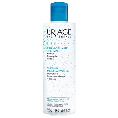 Uriage мицеллярная вода очищающая для нормальной и сухой кожи Demaquillante, 250 мл uriage мицеллярная вода очищающая для чувствительной склонной к покраснению кожи 100 мл