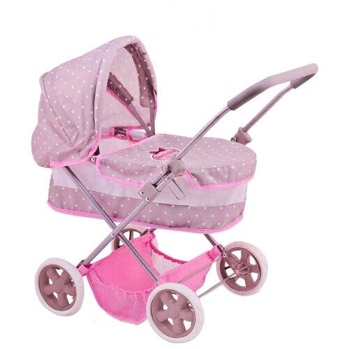 Купить Коляска-люлька Dimian BD1612-M4 розовый/серый, Коляски для кукол