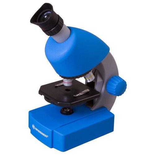 Микроскоп BRESSER Junior 40-640x с набором для опытов синий телескоп bresser junior space explorer 45 600 az синий