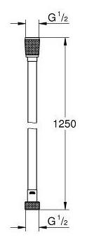 Смеситель для биде Grohe BauFlow 124900 однорычажный встраиваемый лейка в комплекте хром