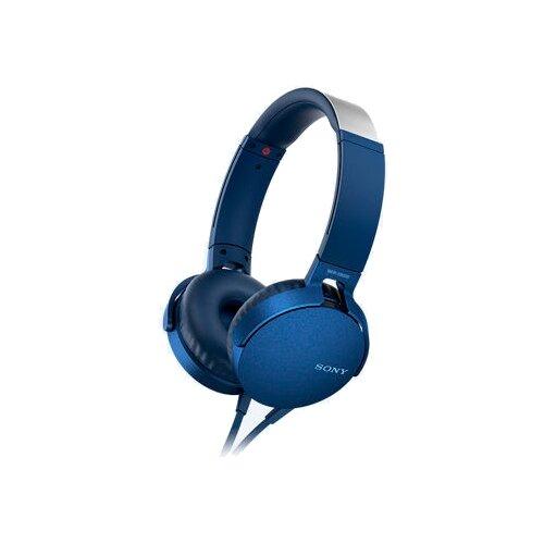 цена на Наушники Sony MDR-XB550AP синий