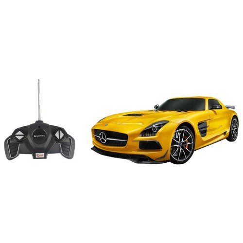 Купить Легковой автомобиль Rastar Mercedes-Benz SLS AMG (54100) 1:18 желтый, Радиоуправляемые игрушки