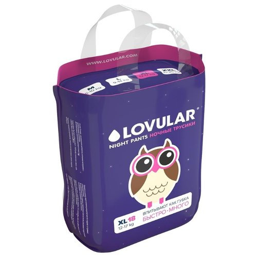 Купить LOVULAR трусики XL (12-17 кг) 18 шт., Подгузники