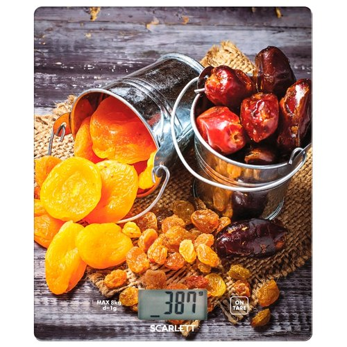 Фото - Кухонные весы Scarlett SC-KS57P33 серый/оранжевый весы напольные scarlett sc bs 33 e 090