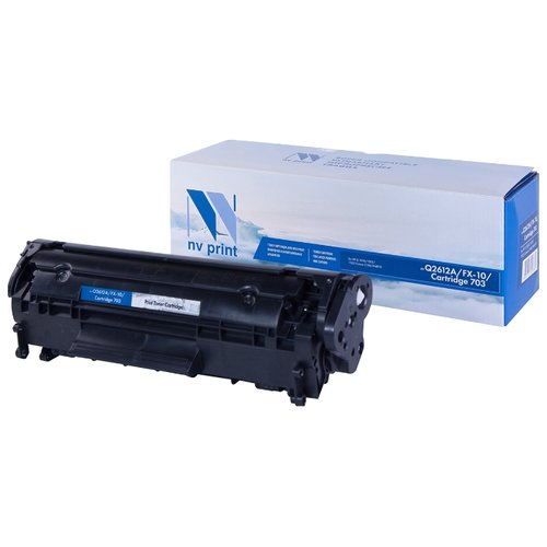 Фото - Картридж NV Print Q2612A/FX-10/703 для HP и Canon, совместимый картридж nv print fx 10 для l100 120 mf4010 4140 4330 4660