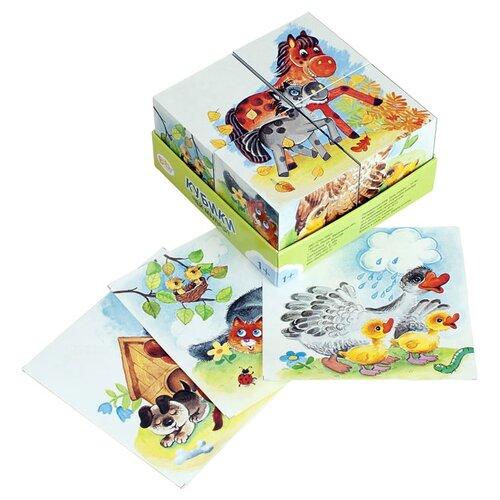 Купить Кубики-пазлы Step puzzle Baby Step Чей малыш? 87330, Детские кубики