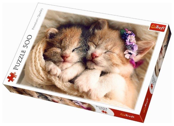 Пазл Trefl Спящие котята (37271), 500 дет.
