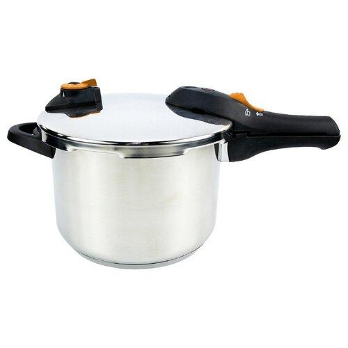 Фото - Скороварка Silampos Easy 7,5 л, серебристый/черный сковорода silampos europa 24 см серебристый