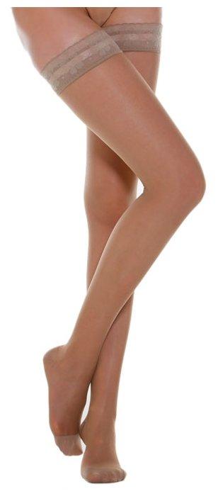 Чулки Relaxsan Basic Stay - Up 140 den, закрытый носок, 1 класс (870) размер 4, телесный