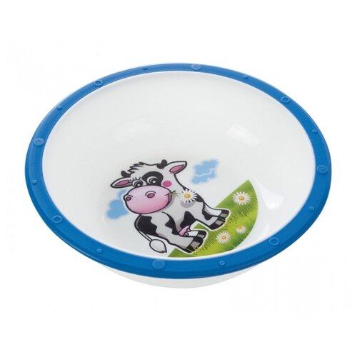 Купить Тарелка Canpol Babies Little cow (4/416) Коровка синяя, Посуда