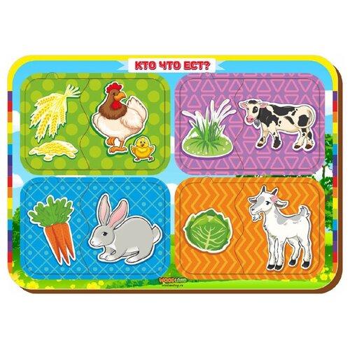 Фото - Рамка-вкладыш Woodland Кто что ест? (012404), 8 дет. рамка вкладыш woodland где кто