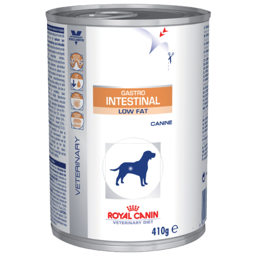 Влажный корм для собак Royal Canin Gastro Intestinal при болезнях ЖКТ 410г cat wet food royal canin ultra light pieces in jelly 24 85 g cat wet food royal canin aging 12 pieces in jelly 85 g 24