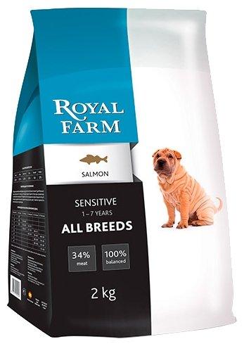 Royal Farm (2 кг) Сухой корм для собак Sensitive Salmon