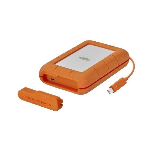 Фото - Внешний HDD Lacie Rugged Thunderbolt USB-C 5 ТБ оранжевый внешний жесткий диск lacie rugged mini stfr2000800 2тб оранжевый