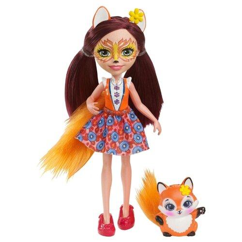 Купить Кукла Enchantimals Фелисити Лис с любимой зверюшкой, 15 см, DVH89, Куклы и пупсы