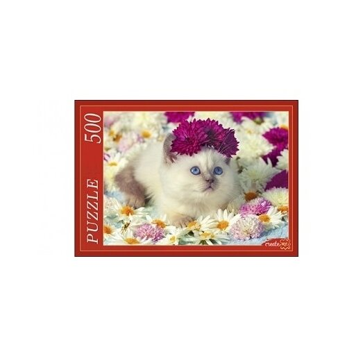 Фото - Пазл Рыжий кот Сиамский котёнок (ГИ500-7906), 500 дет. коробка рыжий кот 33х20х13см 8 5л д хранения обуви пластик с крышкой