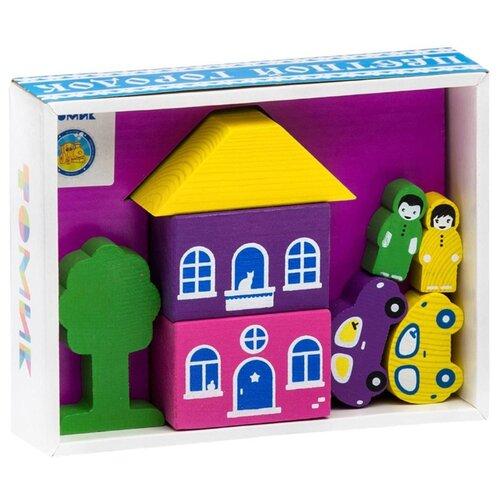 Купить Кубики Томик Цветной городок фиолетовый 8688-2, Детские кубики