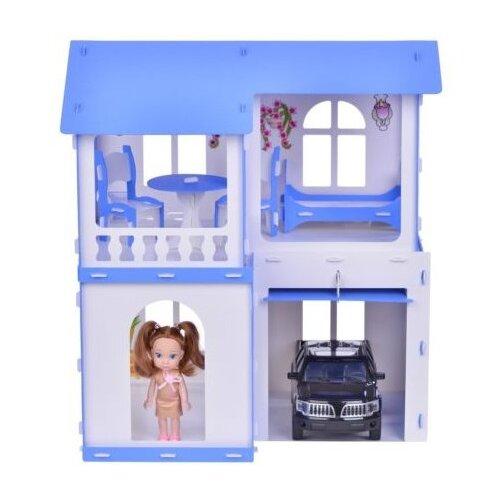 KRASATOYS Домик для кукол Алиса 000281, бело-синийКукольные домики<br>