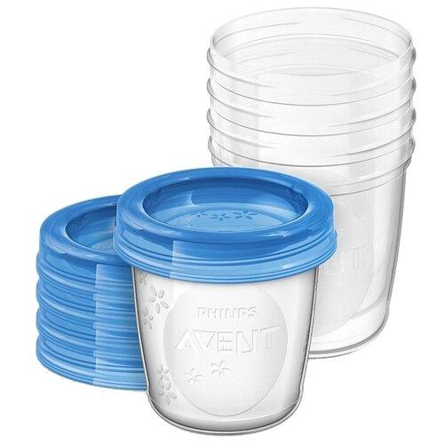 Philips AVENT Контейнеры для хранения грудного молока 180 мл (SCF619) бесцветный 5 шт. недорого