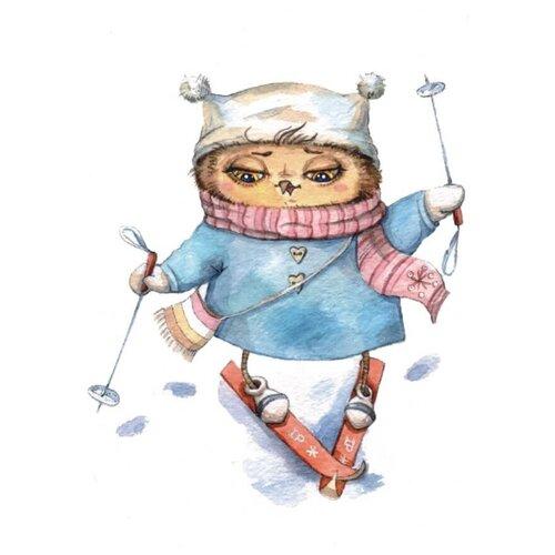 Цветной Набор алмазной вышивки Лыжница (LE003) 30x40 см