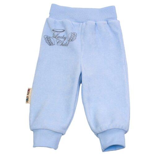 Брюки lucky child размер 22, бело-голубойБрюки и шорты<br>