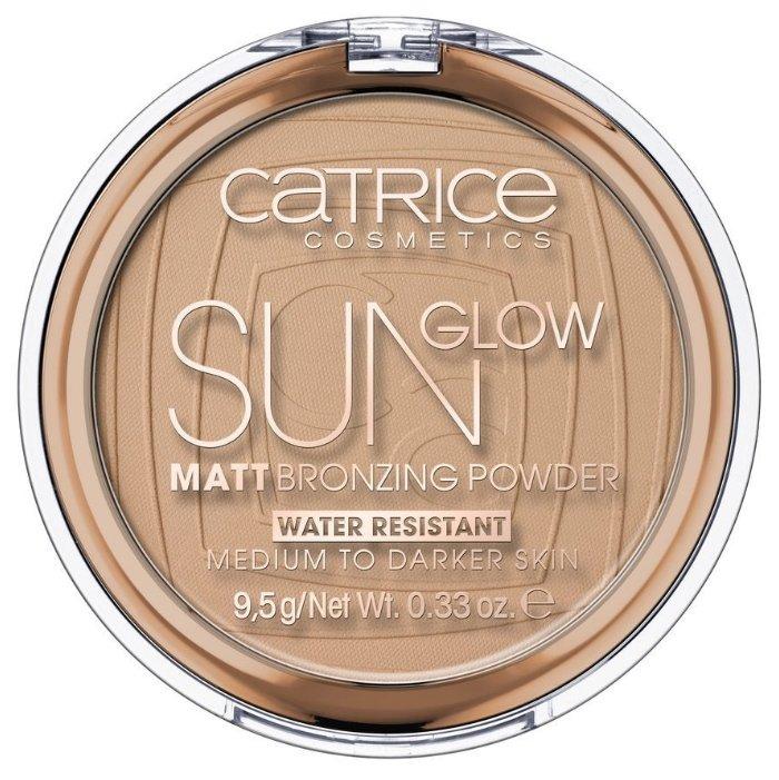 CATRICE Sun Glow Matt Bronzing Powder пудра компактная с эффектом загара матирующая