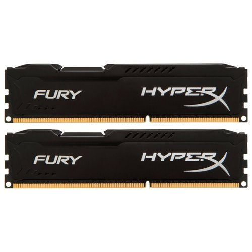 Оперативная память HyperX Fury DDR3 1866 (PC 14900) DIMM 240 pin, 8 ГБ 2 шт. 1.5 В, CL 10, HX318C10FBK2/16