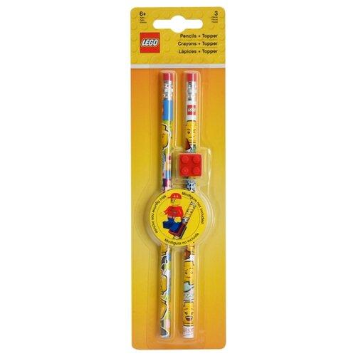 Купить LEGO Набор чернографитных карандашей Iconic 2 шт с ластиком (51141), Карандаши