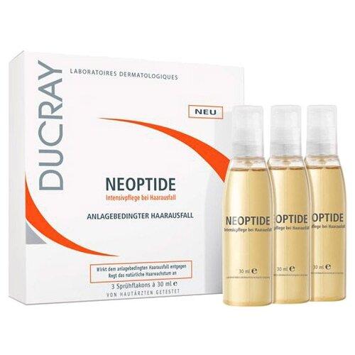 Ducray Неоптид Лосьон от выпадения волос для женщин, 30 мл, 3 шт. неоптид лосьон от выпадения волос у мужчин 100 мл ducray выпадение волос